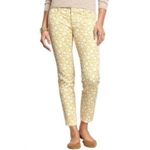 Old Navy Yellow Floral Pixie Pants 4